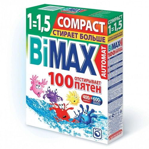 Стиральный порошок BiMax 100 пятен 400 гр