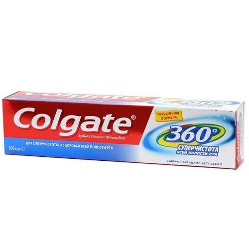 Зубная паста Colgate 360 Суперчистота всей полости рта 100 мл