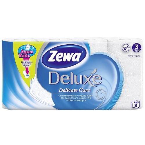 Туалетная бумага Zewa Deluxe 8 рулонов
