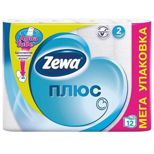 Туалетную бумагу Zewa Plus 12 рулонов