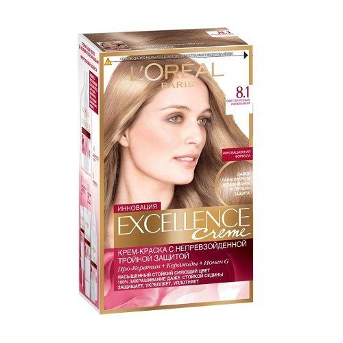 Краска для волос L'Oreal Paris Excellence Светло-русыйпепельный 8.1 270 мл