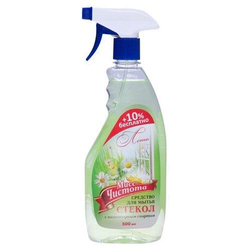 Средство для мытья стекол «Мисс Чистота» Лето 500 мл