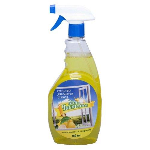 Средство для мытья стекол «Мисс Чистота» Лимон 750 мл