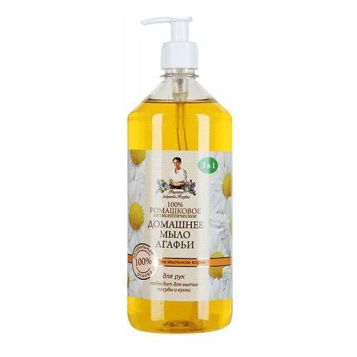 Жидкое мыло Рецепты Бабушки Агафьи – Домашнее «Ромашковое» 1000 мл