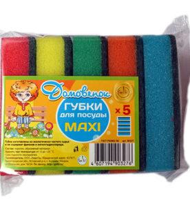 Губка для посуды Домовенок Maxi 5 шт