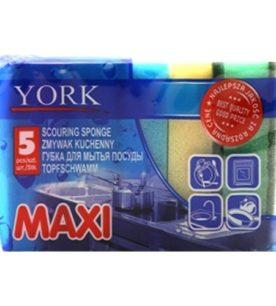 Губка для посуды York MAXI 5 шт