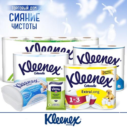 Туалетная бумага KLEENEX (Клинекс) оптом