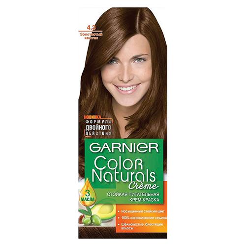 Краска для волос Color Naturals Золотистый каштан (4