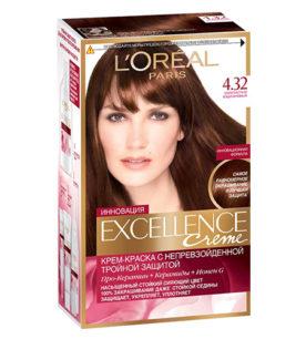 Краска для волос Excellence Золотисто-каштановый (4