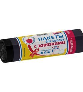 Мешки для мусора PRAKTISCH Черные с завязками 60 л 10 шт