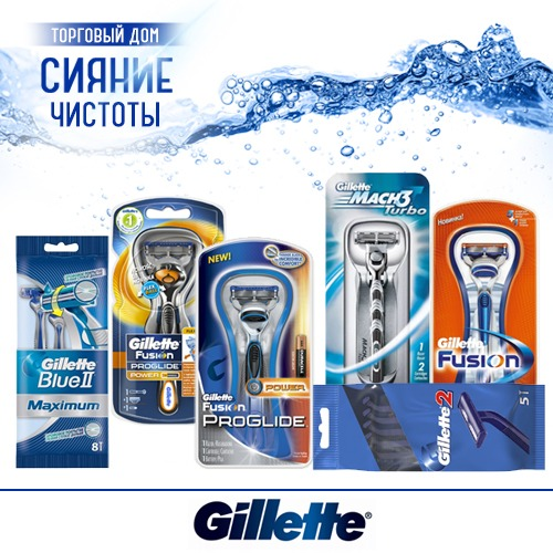 Станки для бритья Gillette (Джилет) оптом