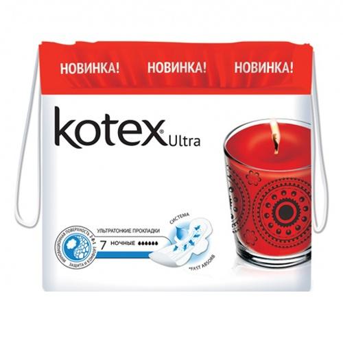 Прокладки Kotex Ultra Dry&Soft Night 7 шт