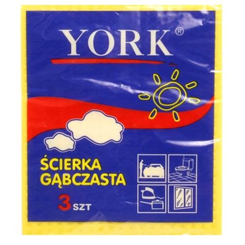 Салфетка York Губчатая 3 шт