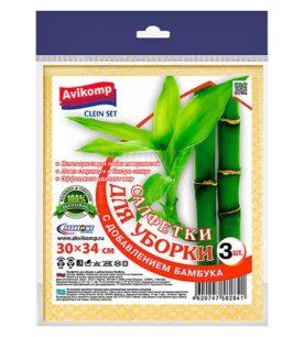 Салфетка бамбуковая CleinSet Для уборки 34х38 см 3 шт