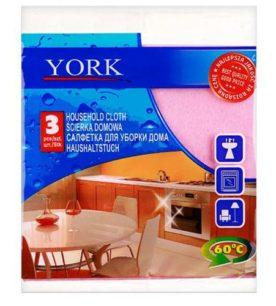 Салфетка для уборки York Хозяйственная 3 шт