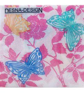 Салфетки Design Бабочки и цветы 40 шт
