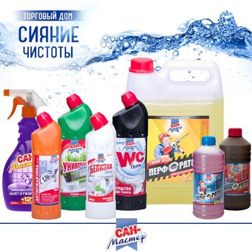 Моющие и чистящие средства «Сан-Мастер» оптом