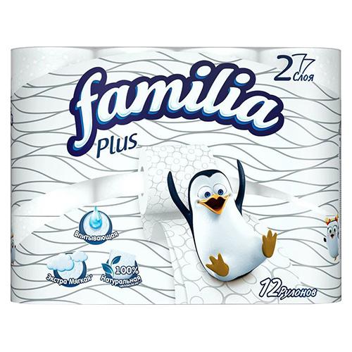 Туалетная бумага Familia Plus 12 шт