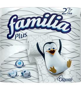 Туалетная бумага Familia Plus 4 шт