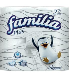 Туалетная бумага Familia Plus 8 шт