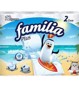 Туалетная бумага Familia Plus