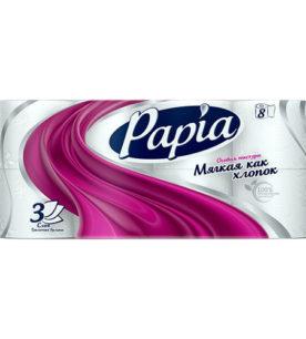 Туалетная бумага Papia Белая