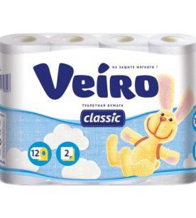 Туалетная бумага Veiro Classic 12 шт