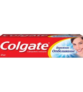 Зубная паста Colgate Бережное отбеливание 50 мл