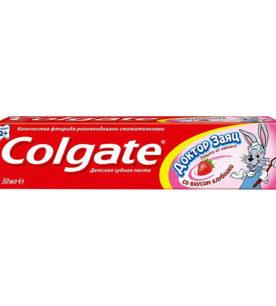 Зубная паста Colgate Доктор заяц со вкусом клубники 50 мл