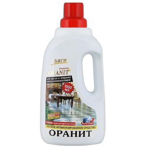 Моющее средство Оранит Для мытья и придания блеска полам всем видов 1 л