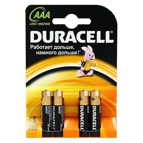 Батарейки Duracell Тип AAA 4 шт