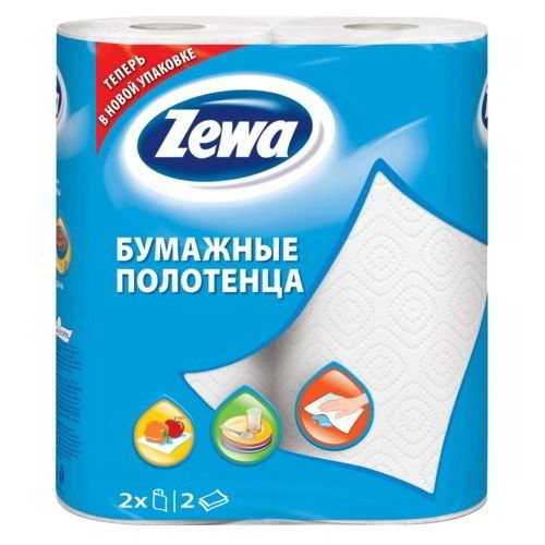 Бумажные полотенца Zewa 2-х слойная 2 шт