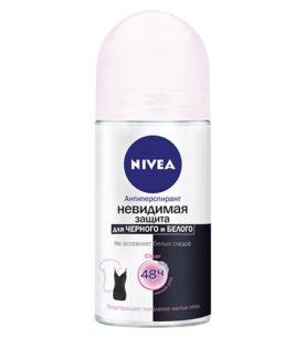 Део-дезодорант роликовый NIVEA Невидимая Защита для черного и белого 50 мл