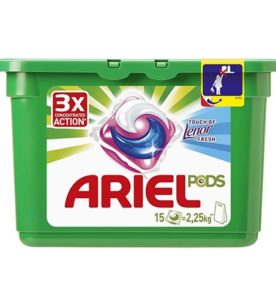 Гель-капсулы Ariel Touch of Lenor Fresh 15 шт