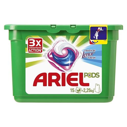 Гель-капсулы Ariel Touch of Lenor Fresh 15 шт