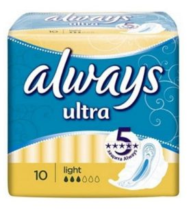 Прокладки Always Ultra light 10 шт