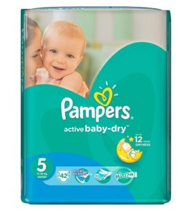 Подгузники Pampers Active Baby-Dry Junior 11-18 кг 16 шт