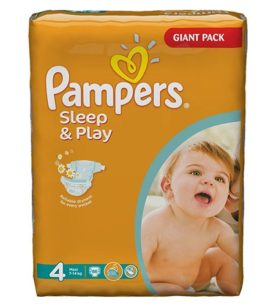 Подгузники Pampers Sleep & Play 7-14 кг 14 шт