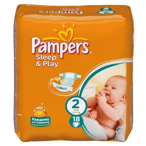 Подгузники Pampers Sleep & Play Mini 3-6кг 18 шт