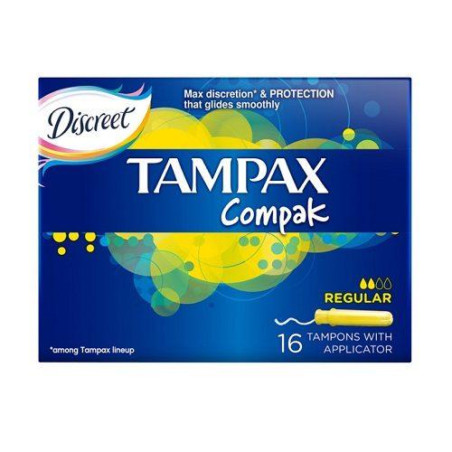 Тампоны Tampax Compak Regular 16 шт оптом
