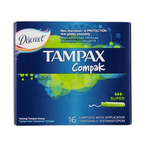 Тампоны Tampax Compak Super 16 шт оптом