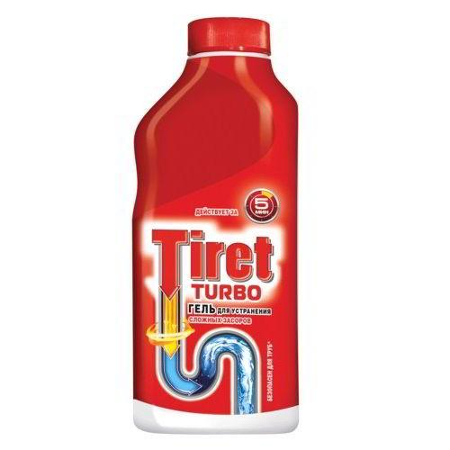 Средство для удаления засоров Tiret Turbo 500 мл