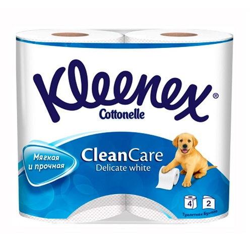 Туалетная бумага Kleenex 3-х слойная 4 шт