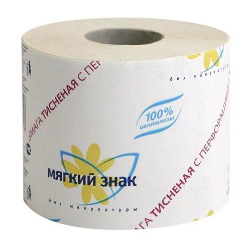 Туалетная бумага Мягкий знак 54 метра 72 шт