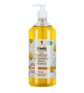 Жидкое мыло Рецепты бабушки Агафьи Домашнее
