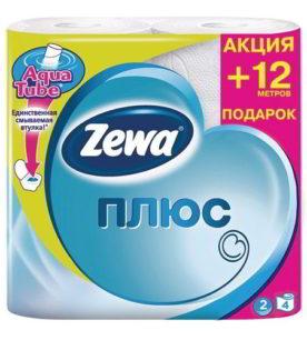 Туалетная бумага Zewa Plus