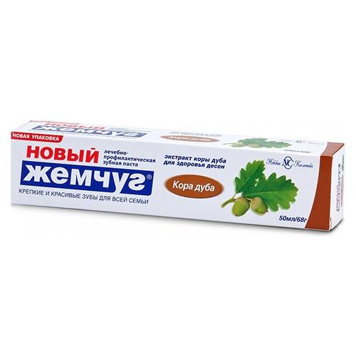 Зубная паста Новый Жемчуг Кора дуба 50 мл