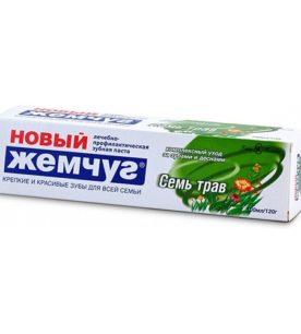 Зубная паста Новый Жемчуг Семь Трав 100 мл
