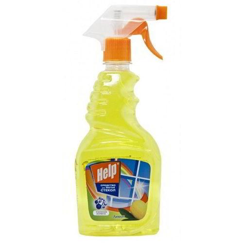 Моющее средство для стекол Help Лимон 500 мл