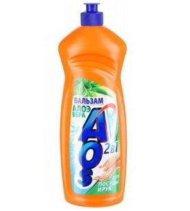 Средство для мытья посуды AOS Бальзам Алое Вера 650 мл